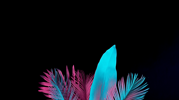 Neon Palm Leaves