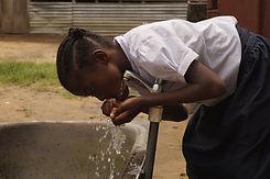 Child drinking water