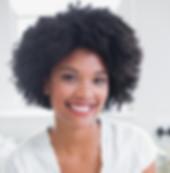 Retrato de una hermosa mujer sonriente