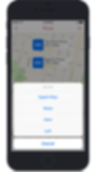 Integrated 3rd party Map and Ride Sharing Apps