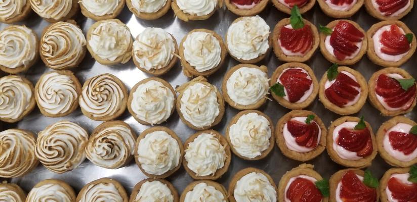 Various Tarts - Coconut Creme, Lemon Merinque, Strawberry Shortcake