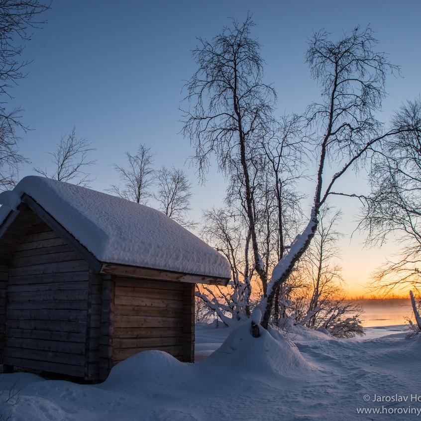 Rybářský domeček ve Finsku