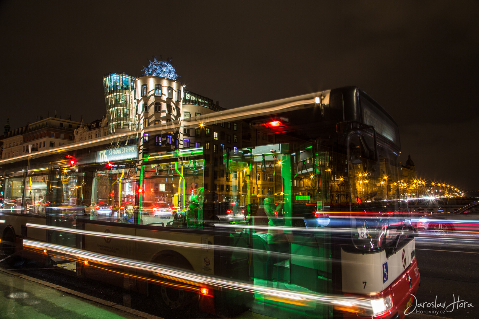 Praha Noční fotokurz - Bus