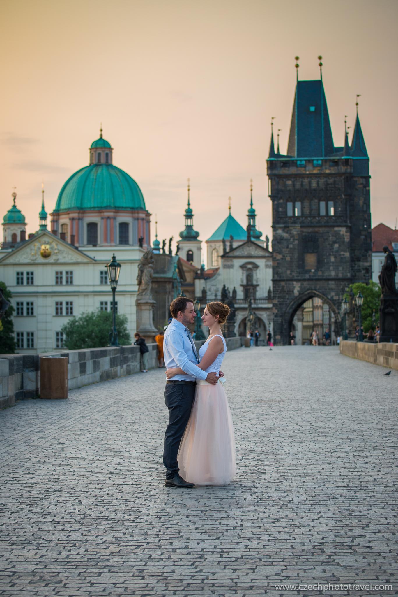 Wedding photos - Prague - sunset