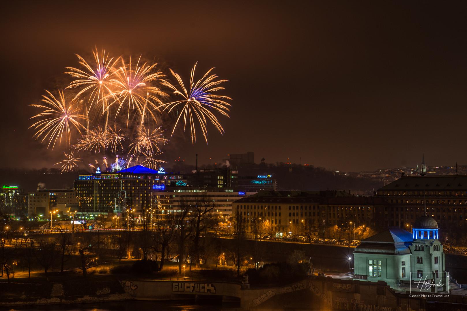 Praha Noční fotokurz - Ohňostroj