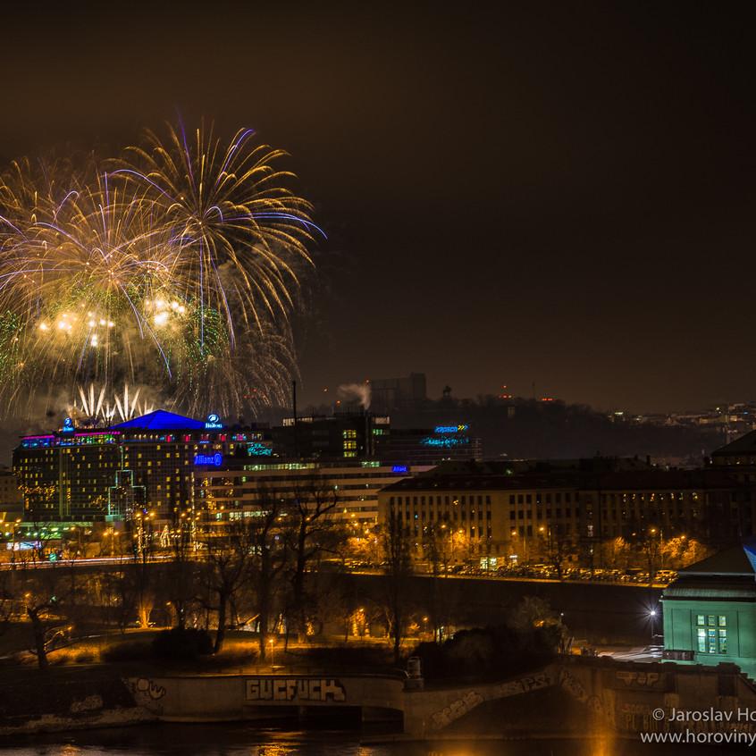 Novocni ohnostroj Praha