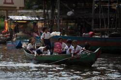 Kambodža - rybářská vesnice