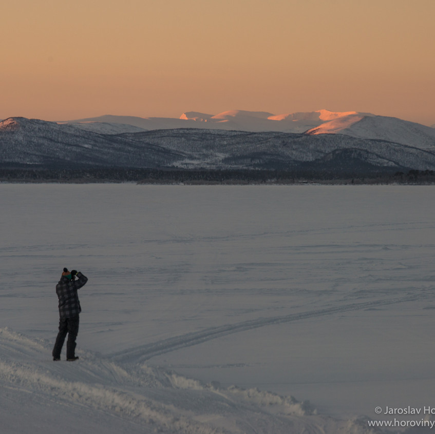 Radek fotí hory