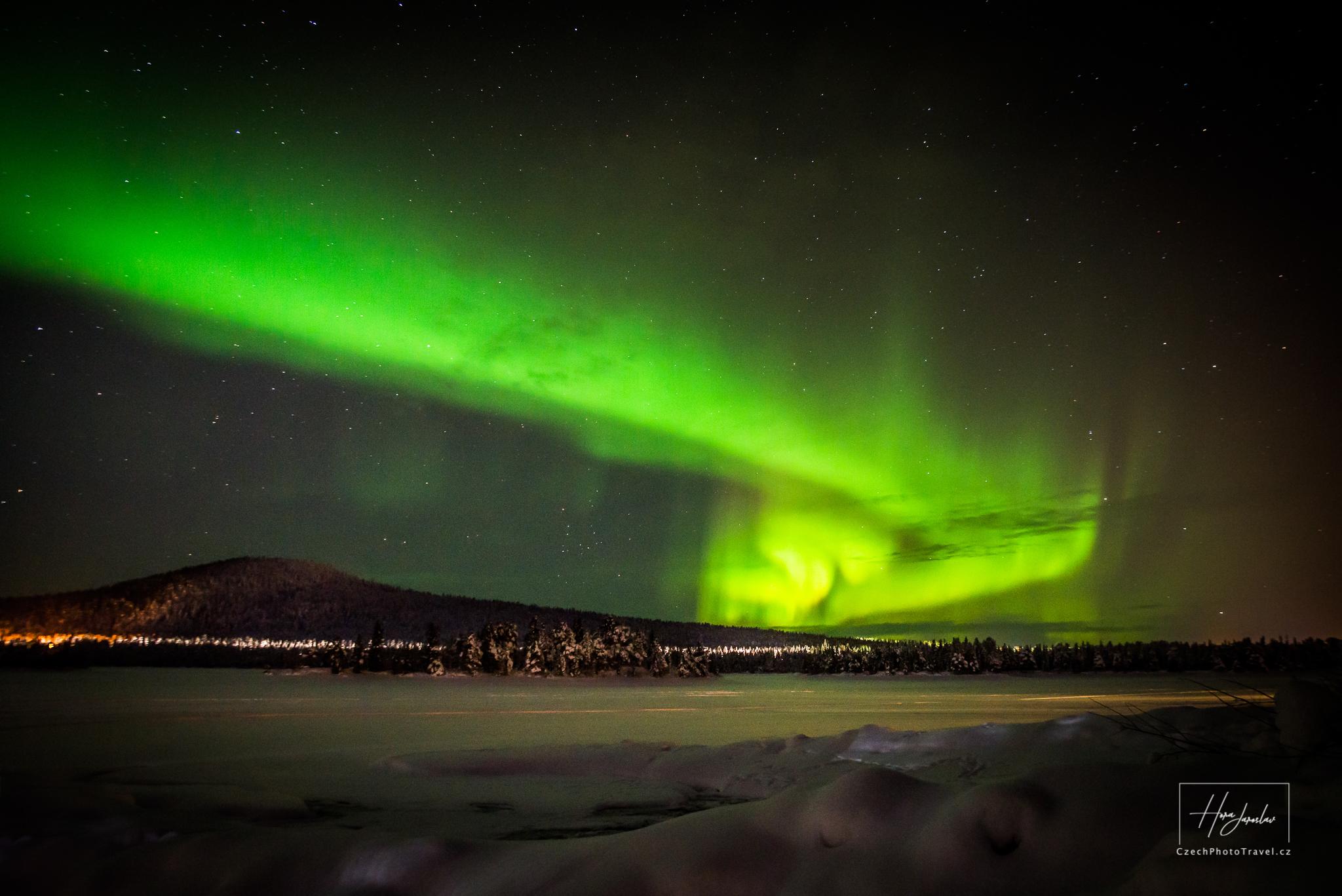Laponsko polární záře