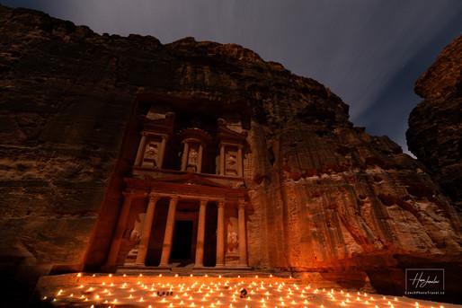 Fotoexpedice Jordánsko Noční Petra