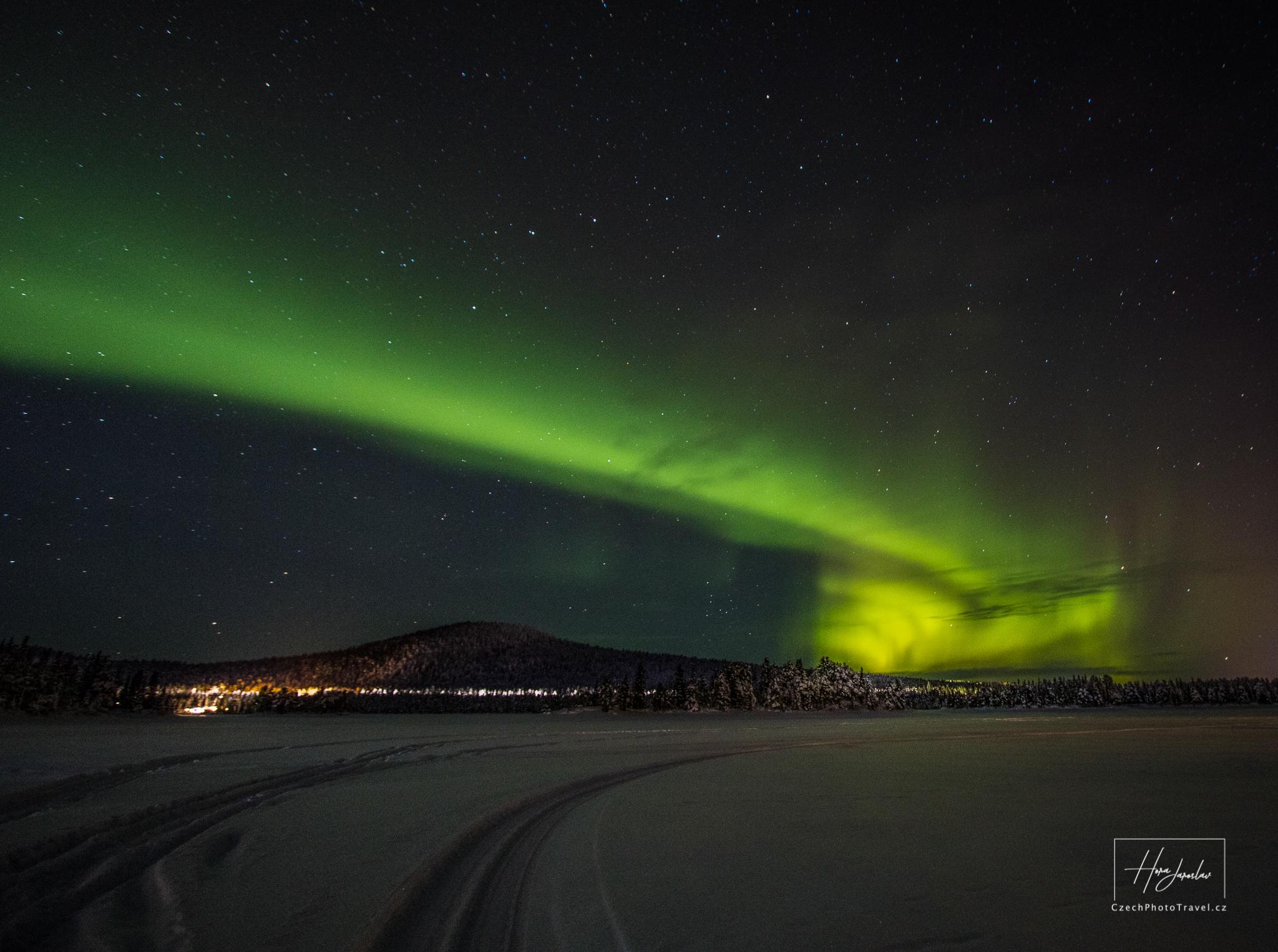 Polární záře Laponsko
