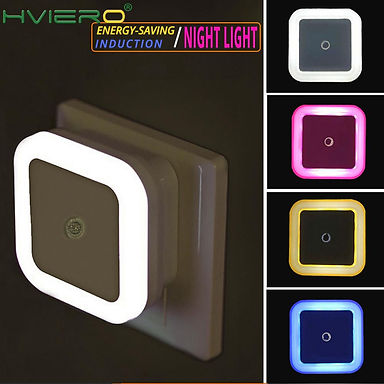 Mini LED Night Light Sensor Control Induction Energy Saving 110v-220v