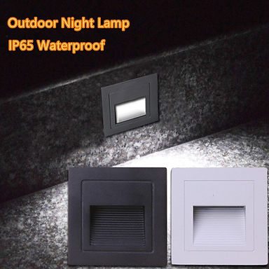 Square 1W 3W IP65 LED Stair Light Step Light Indoor/ Outdoor Waterproof