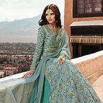 Sea-green-silk-embroidered-long-choli-le