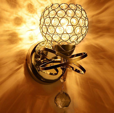E14 Wall Sconce Crystal  Wall Lamp Crystal Lights Gold/Sliver for Home Ligting