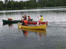 Canoeing, Boys Camp