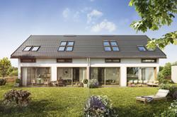 Doppelhaus Garten