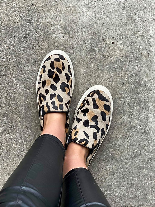 Leopard Print Leather Loaders