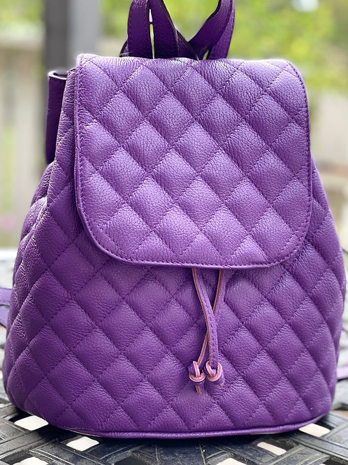 MAY Quilted Purple Backpack