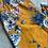 Thumbnail: Mustard Floral Print Cotton Comfort Pant