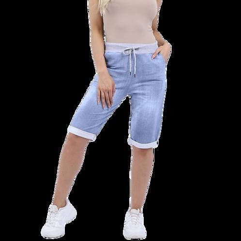Pale Denim Comfort Cotton Shorts