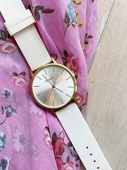 White Jelly Strap Watch