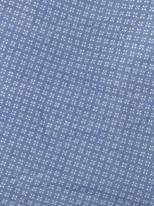 Square Flower Silk/Cotton Oblique Cut Scarf