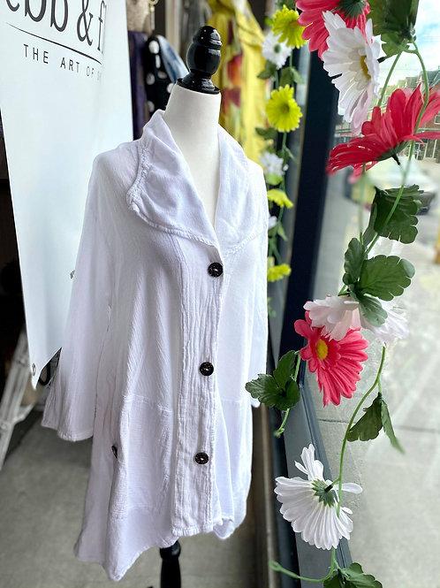 Cotton White Button Up