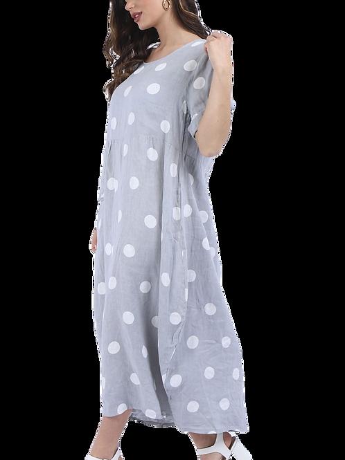 Linen Dot Dress