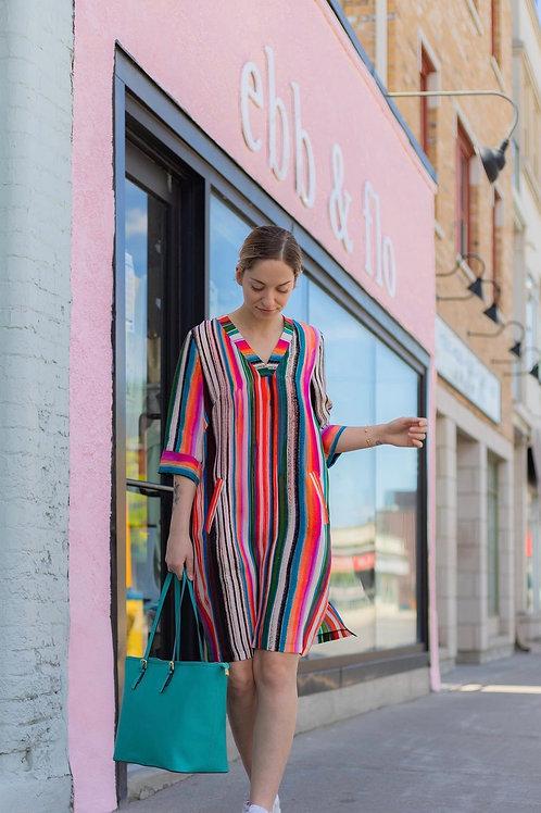 QNeel Denmark Cupro Luxury Shift Dress