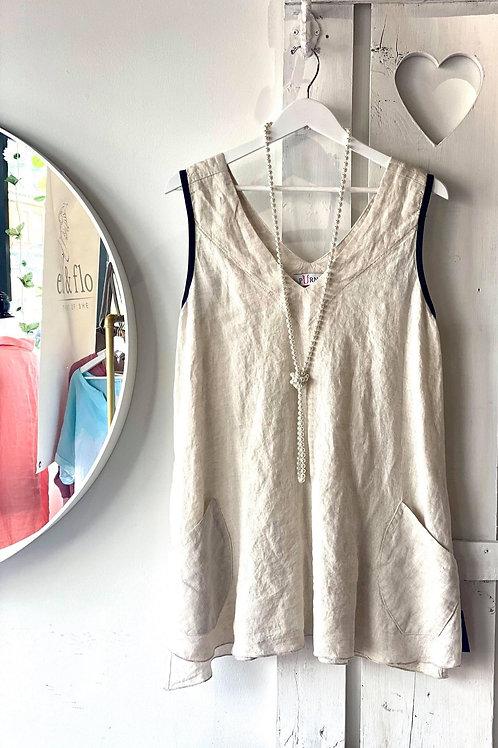 Linen Sleeveless Tunic Made in Canada