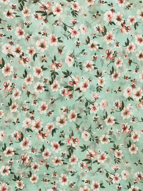 Mint Julep Silk/Cotton Oblique Cut Scarf