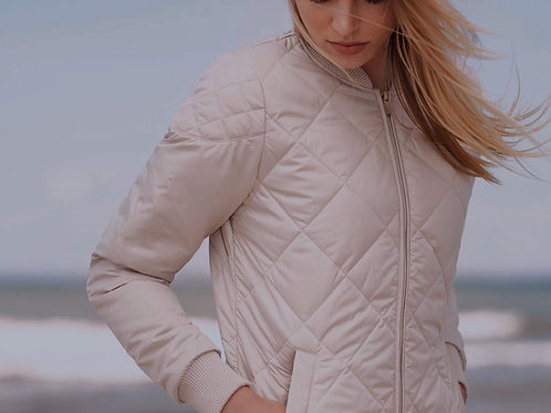 Art Quilted Jacket inTaupe Creme