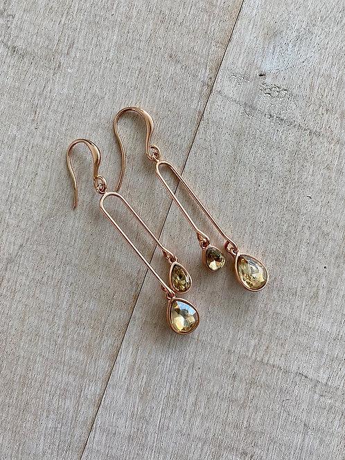 Rose & Crystal Earrings