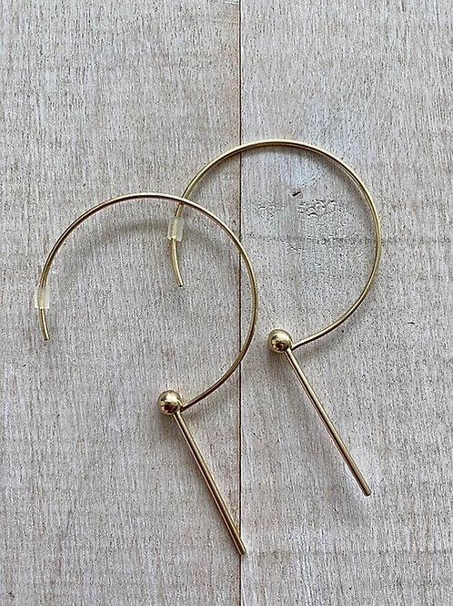 Gold Hoop & Drop Earrings