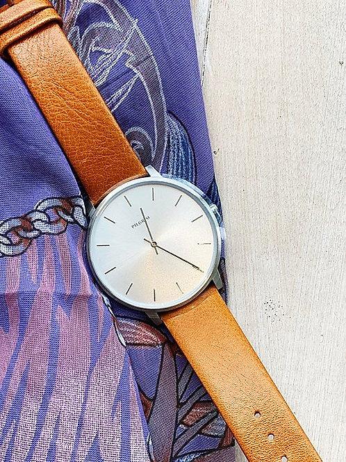Cognac Leather Watch