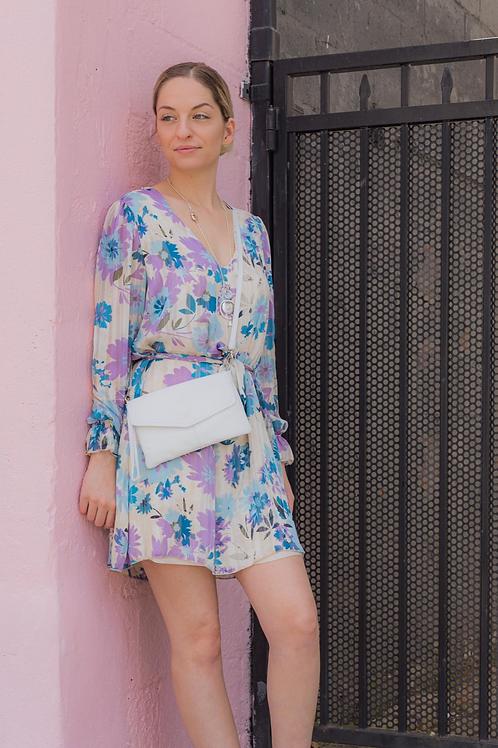 Fleur Bleu Short Dress