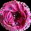 Thumbnail: Flower Silk/Cotton Oblique Cut Italian Scarf