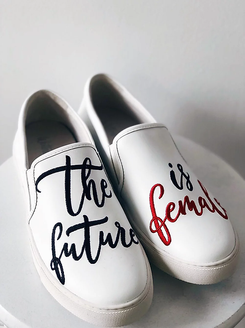 The Future is Female Leather Loafers