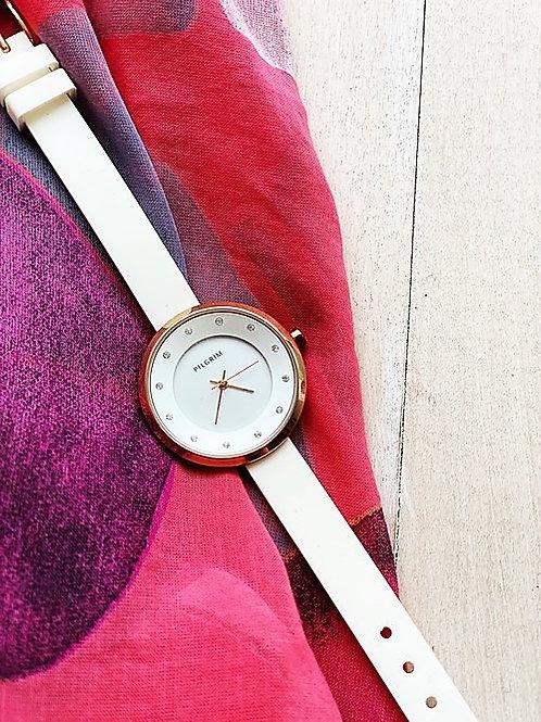 White Jewelled Watch