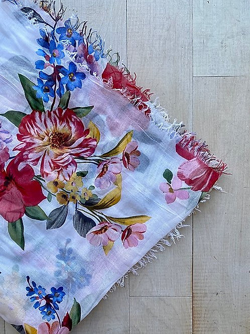 Large Floral Modal Scarf