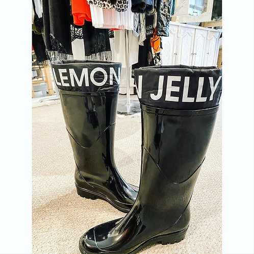 Lemon Jelly Tall Rain Boots