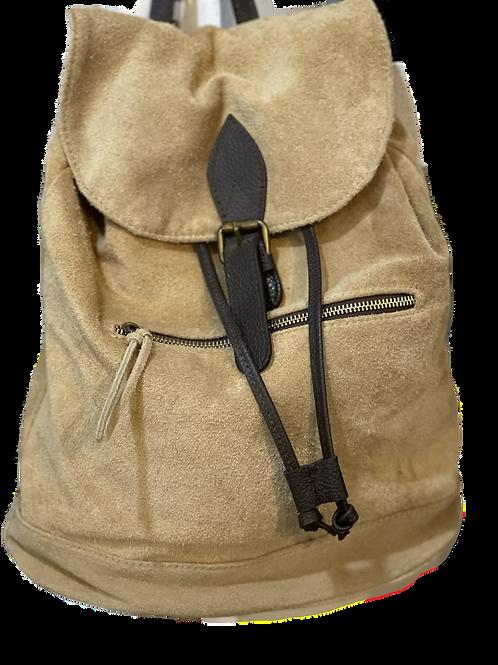Vintage Vibe Suede Backpack