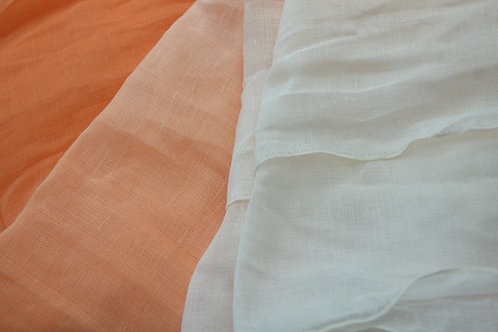 Linen & Silk Dipped in Colour