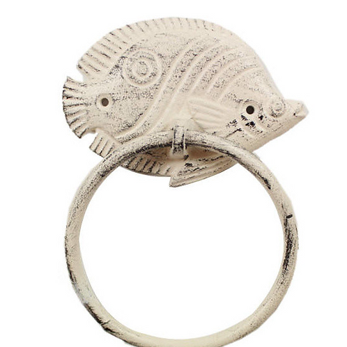 Shabby Chic Cast Sea Towel Ring