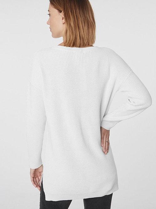100% Cotton Crew Style Shaker Sweater