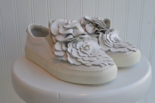 Floral Leather Trainer