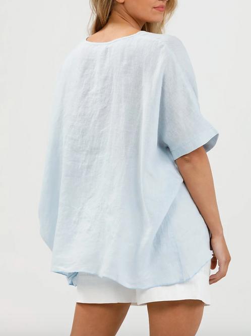 Hampton Blue Linen Shirt