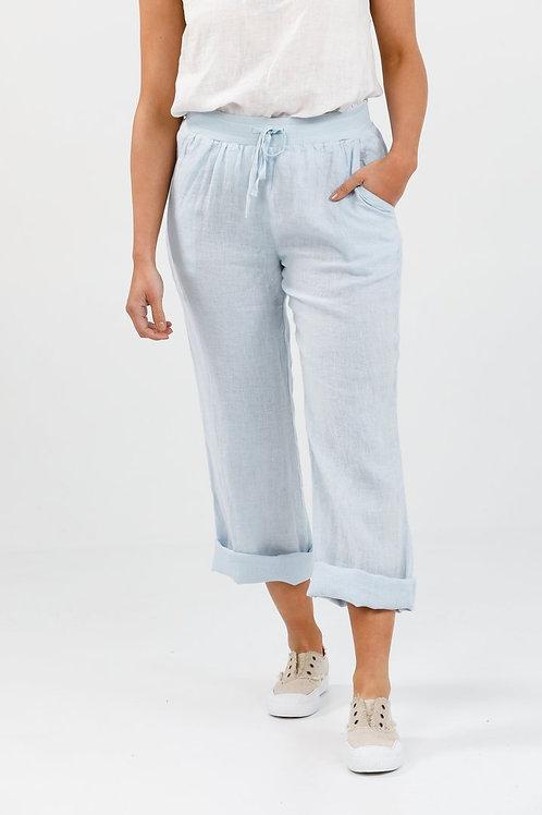 Hampton Blue Linen Pant