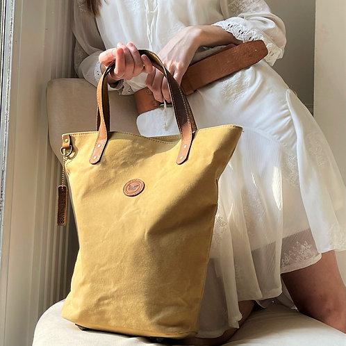 Maize Waxed Canvas Bucket Bag